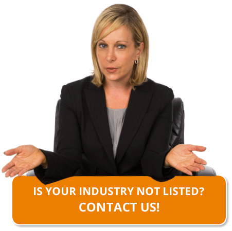 Is your industry not listed? Contact us