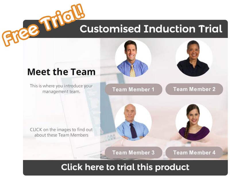 Online Customized Induction Training Trial