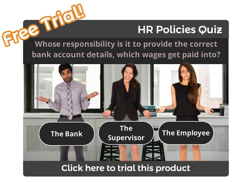 Online HR Policies and Procedures Induction Trial