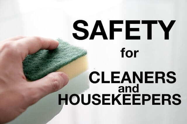 SAFETY Induction for cleaners and housekeepers