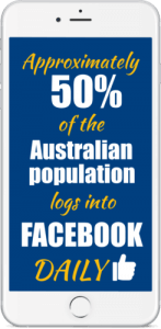 50 percent of the australian population facebook