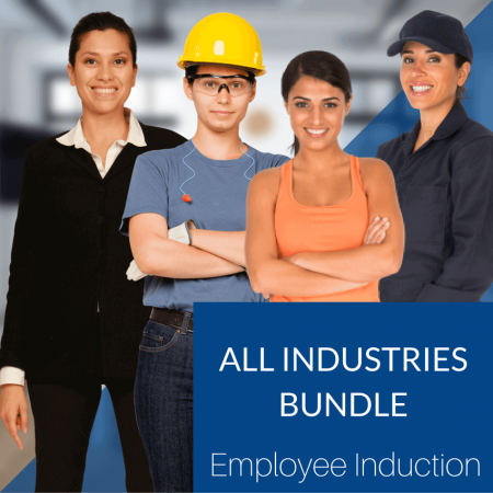 TANDI All Industries Employee Induction image with four girls from different industries