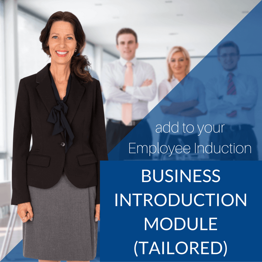 TANDI Your Business Introduction Induction Module - tailored customized package