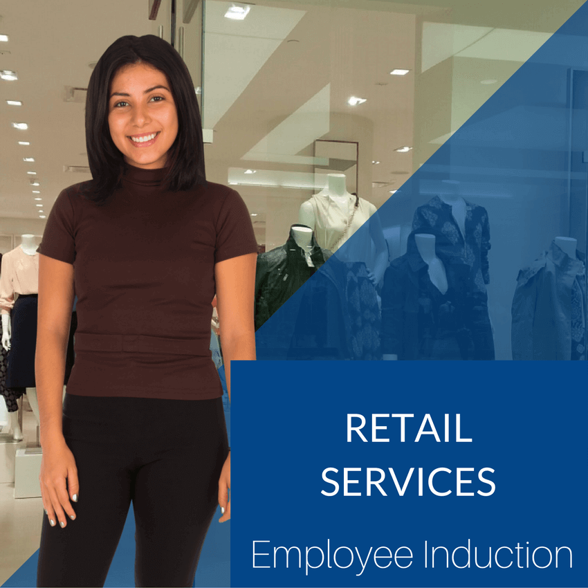 Online staff and contractor Induction for the Retail Services Industries