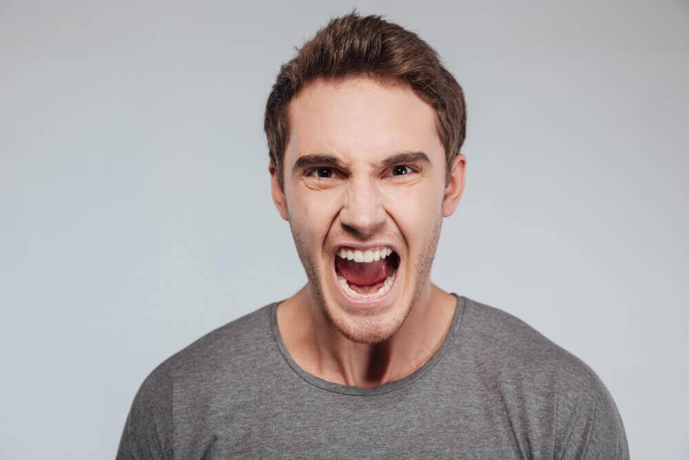Challenging aggressive and violent behaviours. Angry man