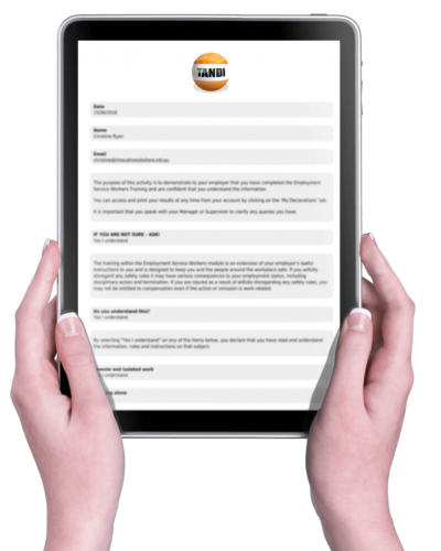 Mobile friendly online forms with TANDI