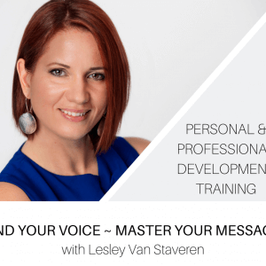 Find Your Voice with Lesley Van Staveren online training