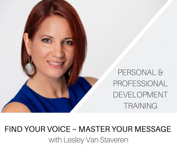 Find Your Voice with Lesley Van Staveren online training